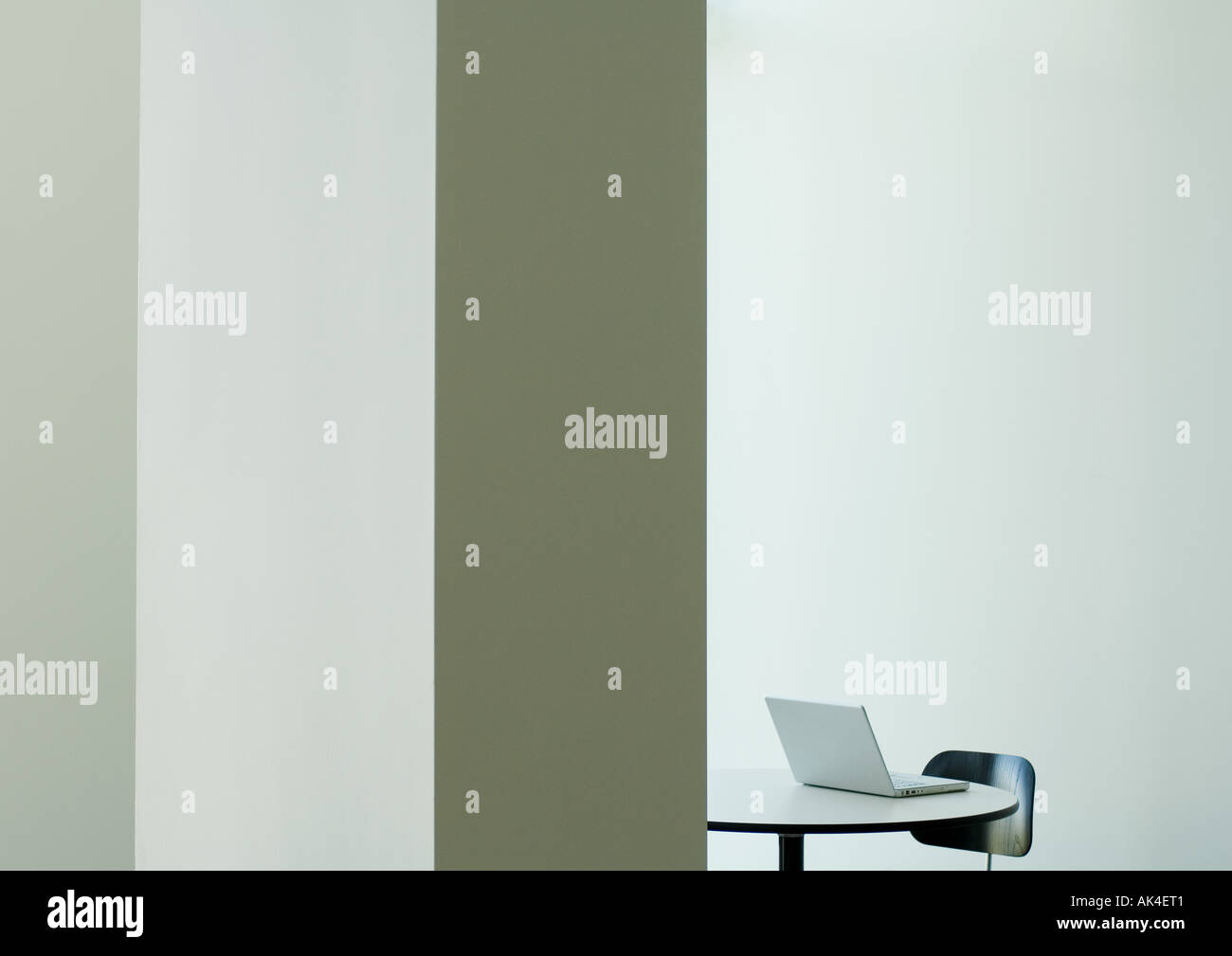 Laptop on table, partial view - Stock Image