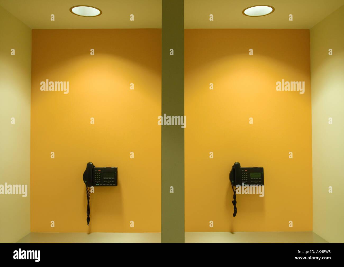 Wall phones - Stock Image