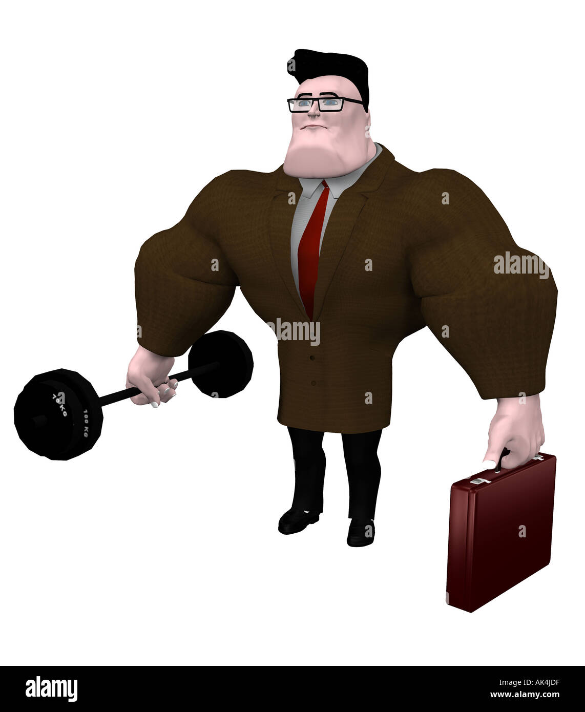 symbol graphic strong businessman - Stock Image