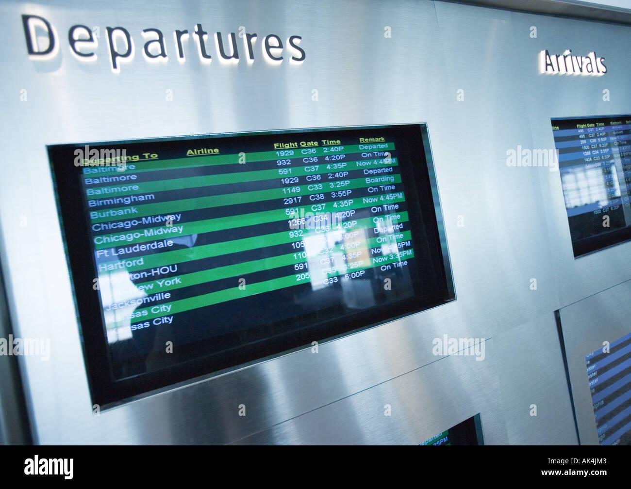 Depature board - Stock Image