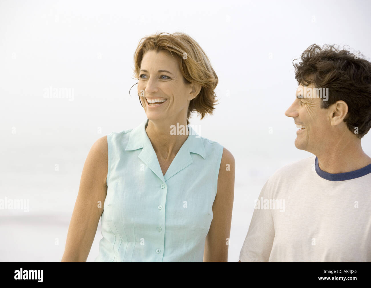 Mature couple laughing - Stock Image