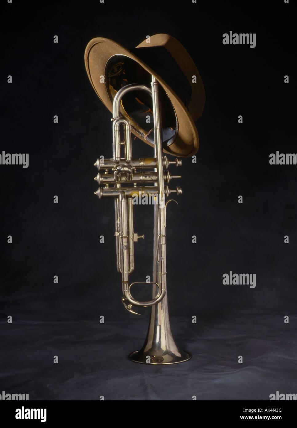 blues jazz horn - Stock Image