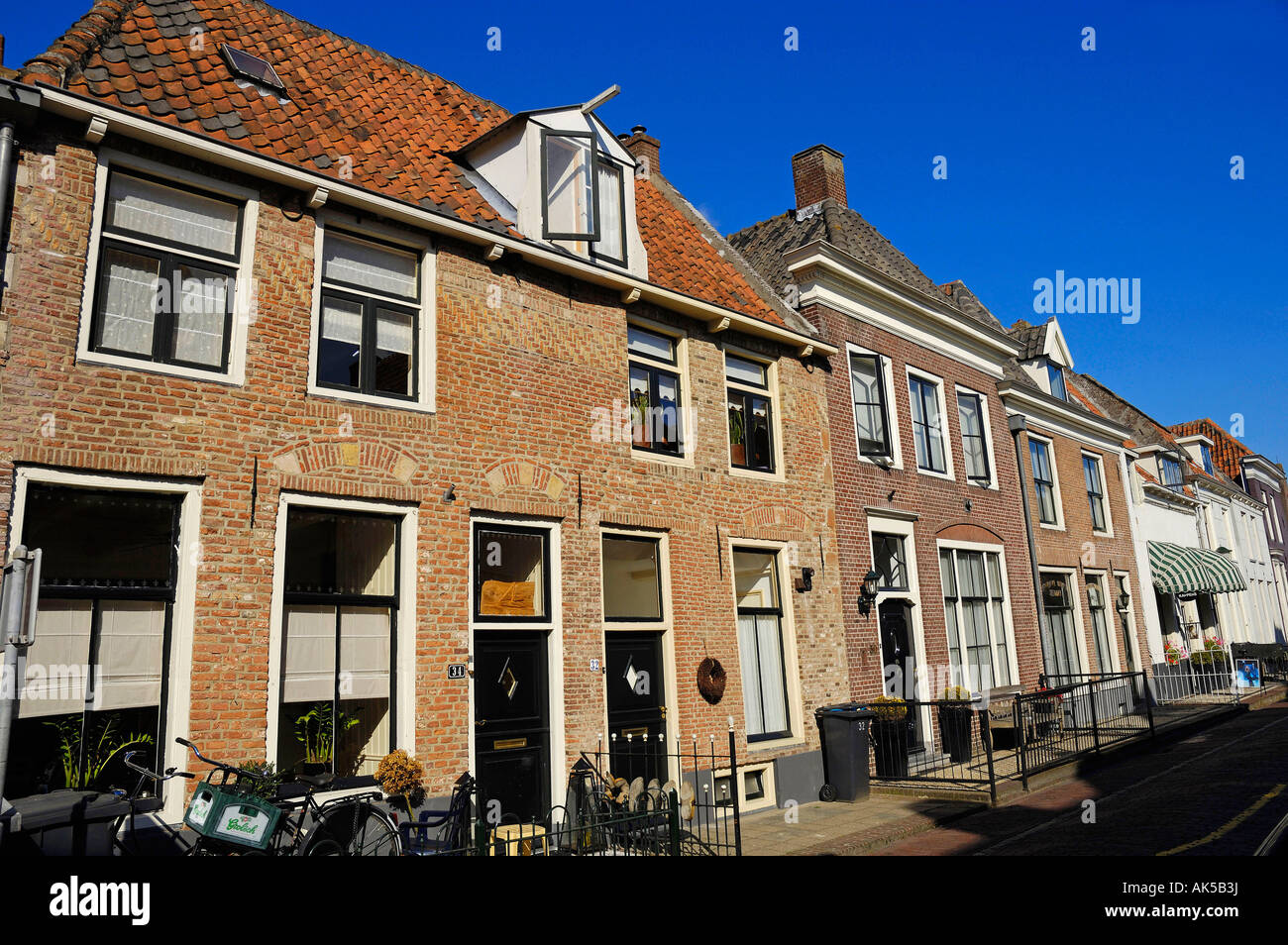 Row of houses, Elburg - Stock Image