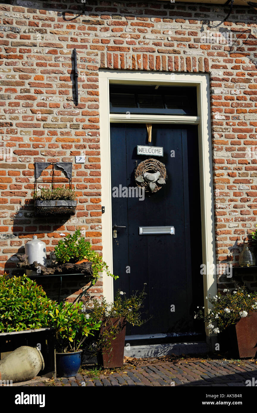 House entrance, Elburg - Stock Image