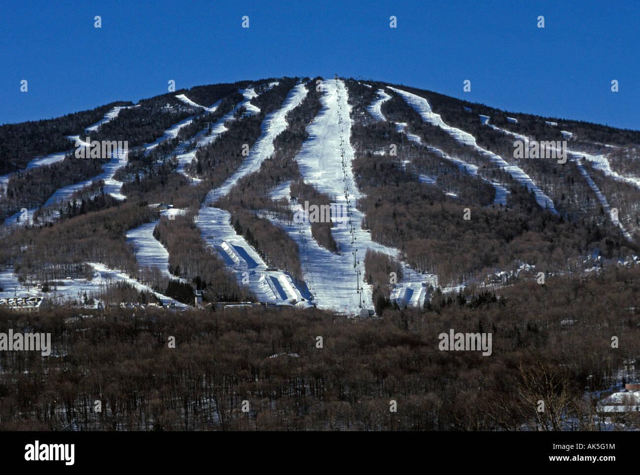 stratton mountain resort vermont new england usa stock photo