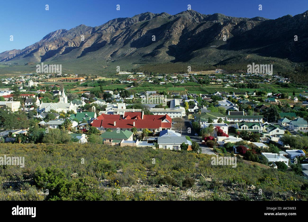 view over Montagu Klein Karoo region - Stock Image