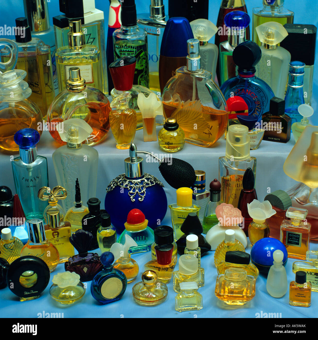 Bottles of perfume - Stock Image