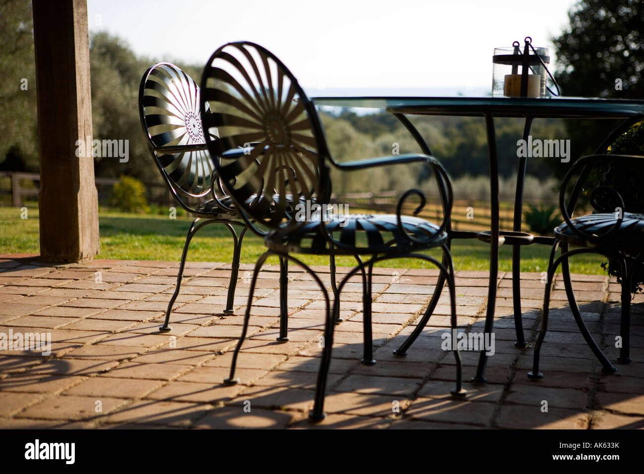 Wrought Iron Outdoor Furniture High Resolution Stock Photography And Images Alamy