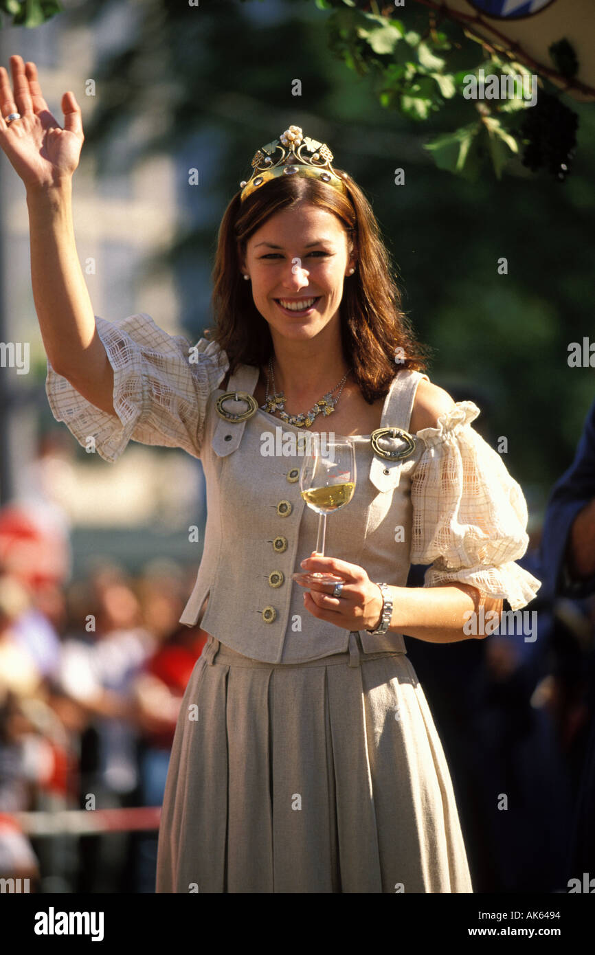 Germany, Munich, Oktoberfest, Parade of Festival Hosts and Breweries Stock Photo