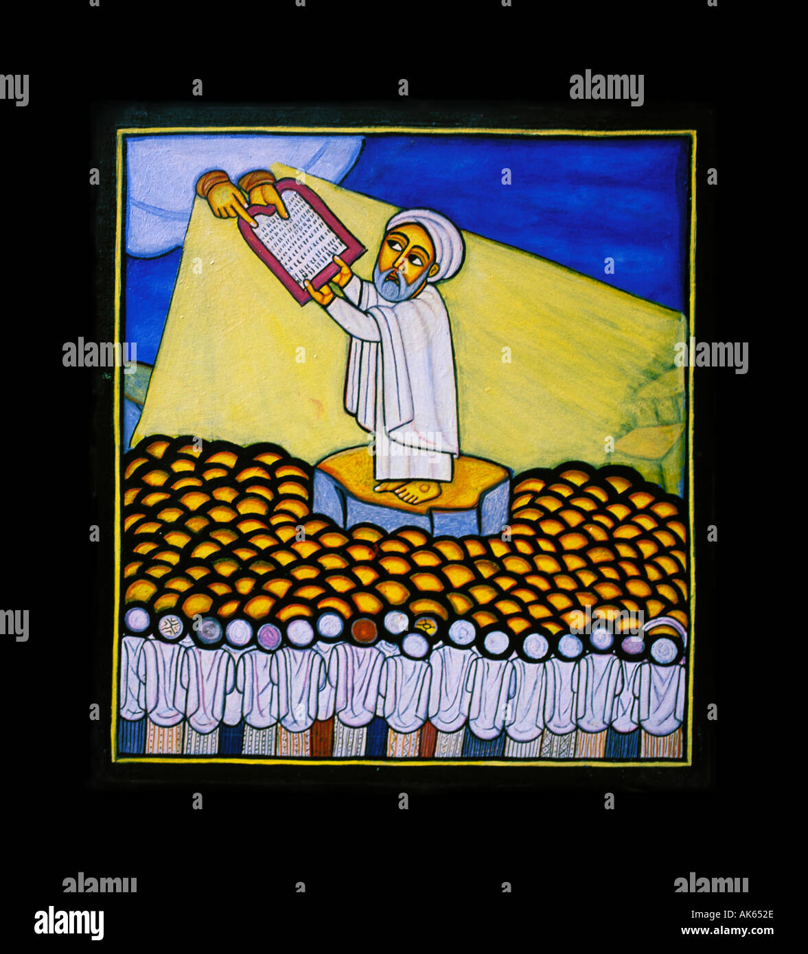 Icon of Moses by Livanus Setatou - Stock Image
