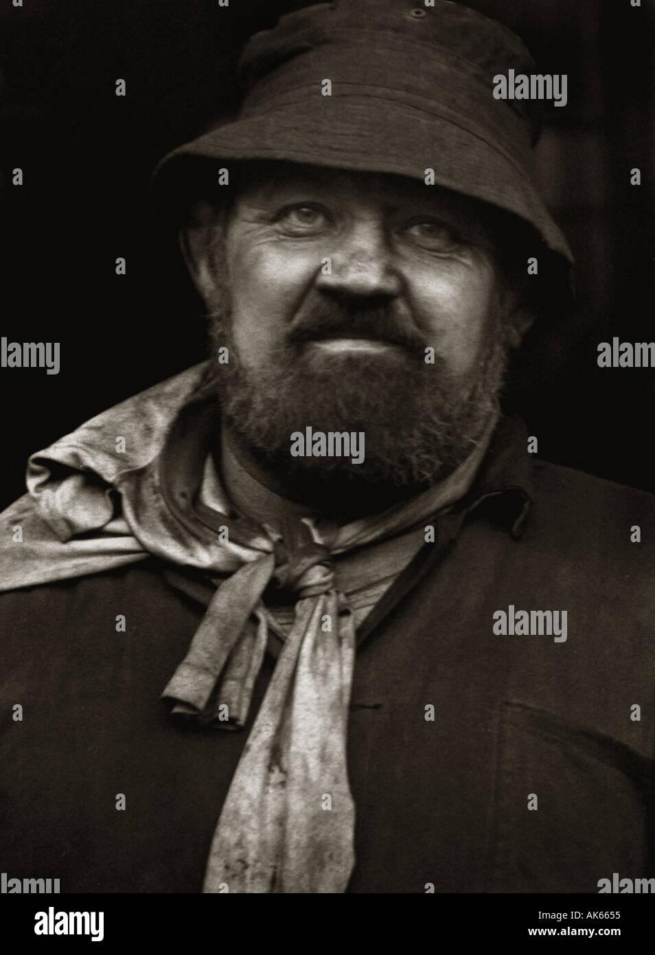 Cornish Tin miner portrait - Stock Image