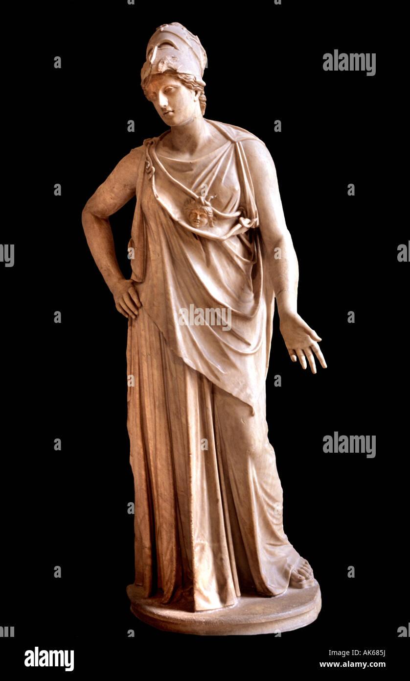 Athene Athena Minerva Greek greece rome roman  goddess civilization wisdom weaving, crafts war technical knowledge - Stock Image