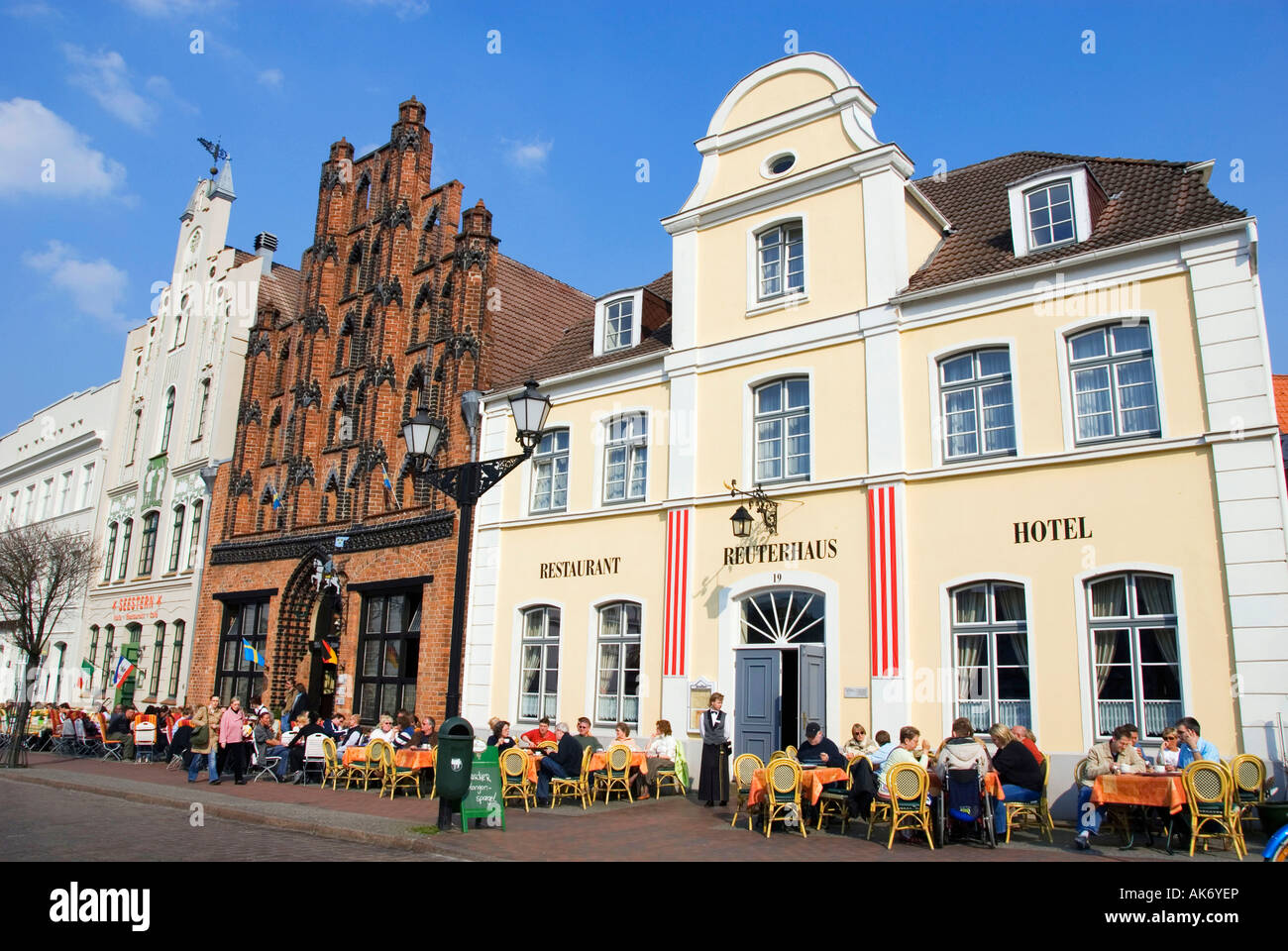 Houses / Wismar Stock Photo