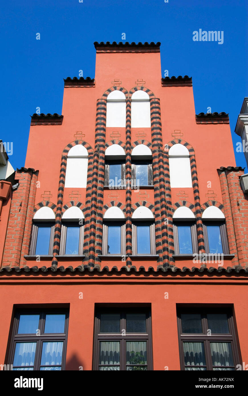 House front / Wismar - Stock Image