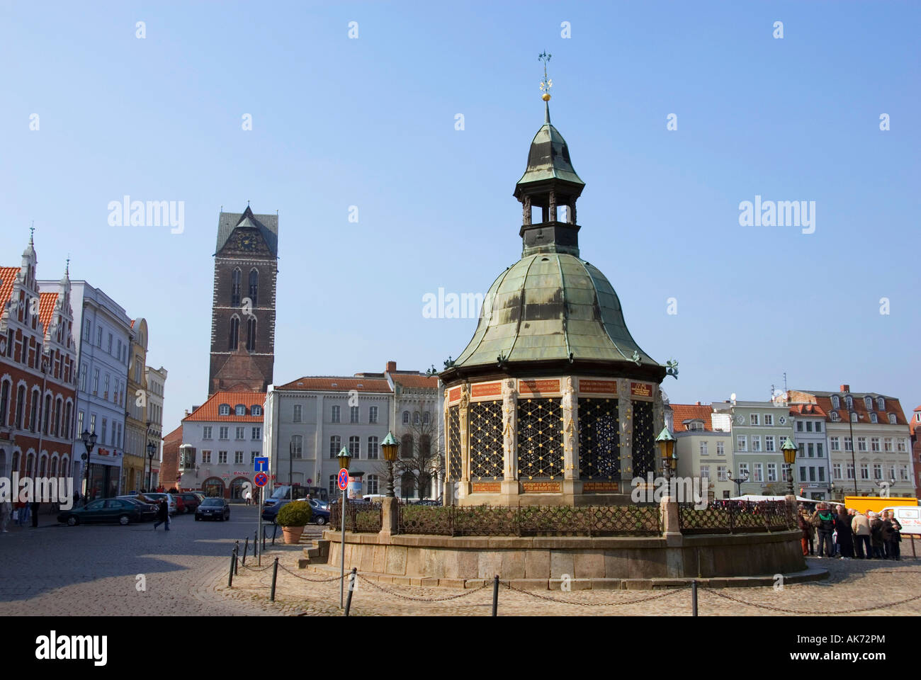 Pavilion of water art / Wismar - Stock Image