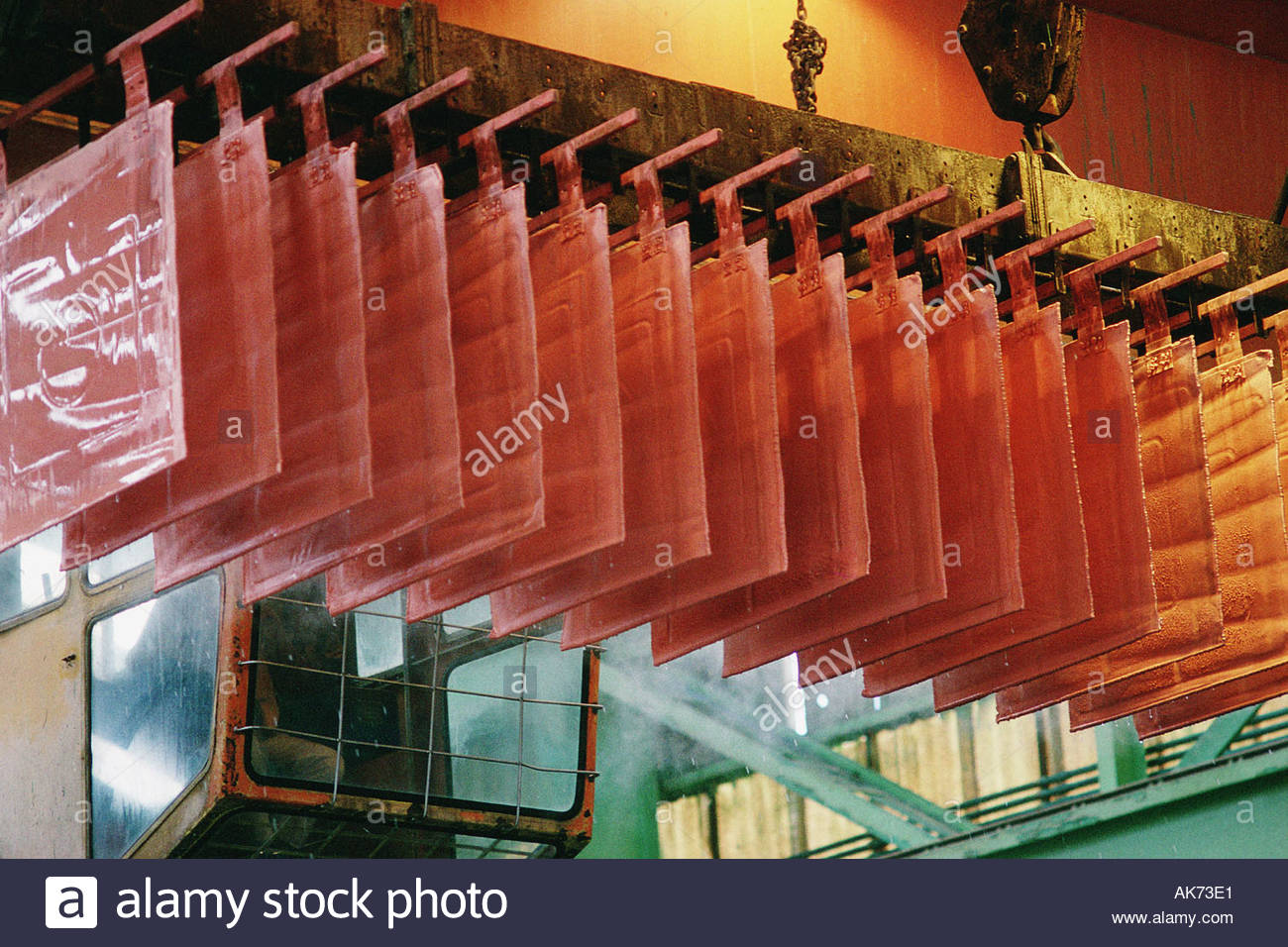 Cerro Verde copper mine near Arequipa owned by US Phelps Dodge company Andes Peru - Stock Image
