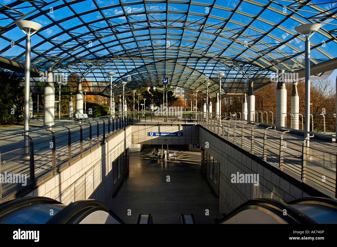Metro station / Dortmund - Stock Image