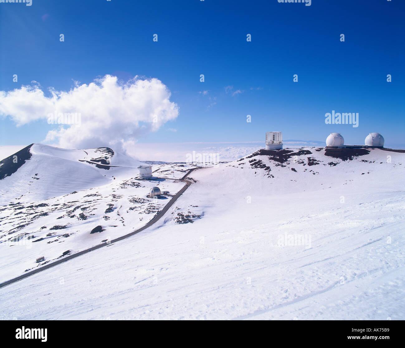 mauna kea hawaii snow stock photos & mauna kea hawaii snow stock