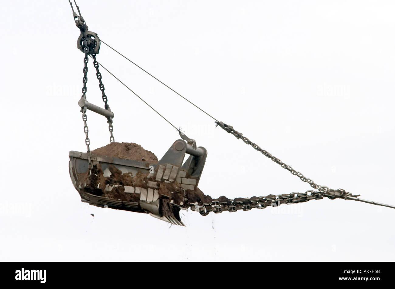 bucket of a brown coal digger - Stock Image