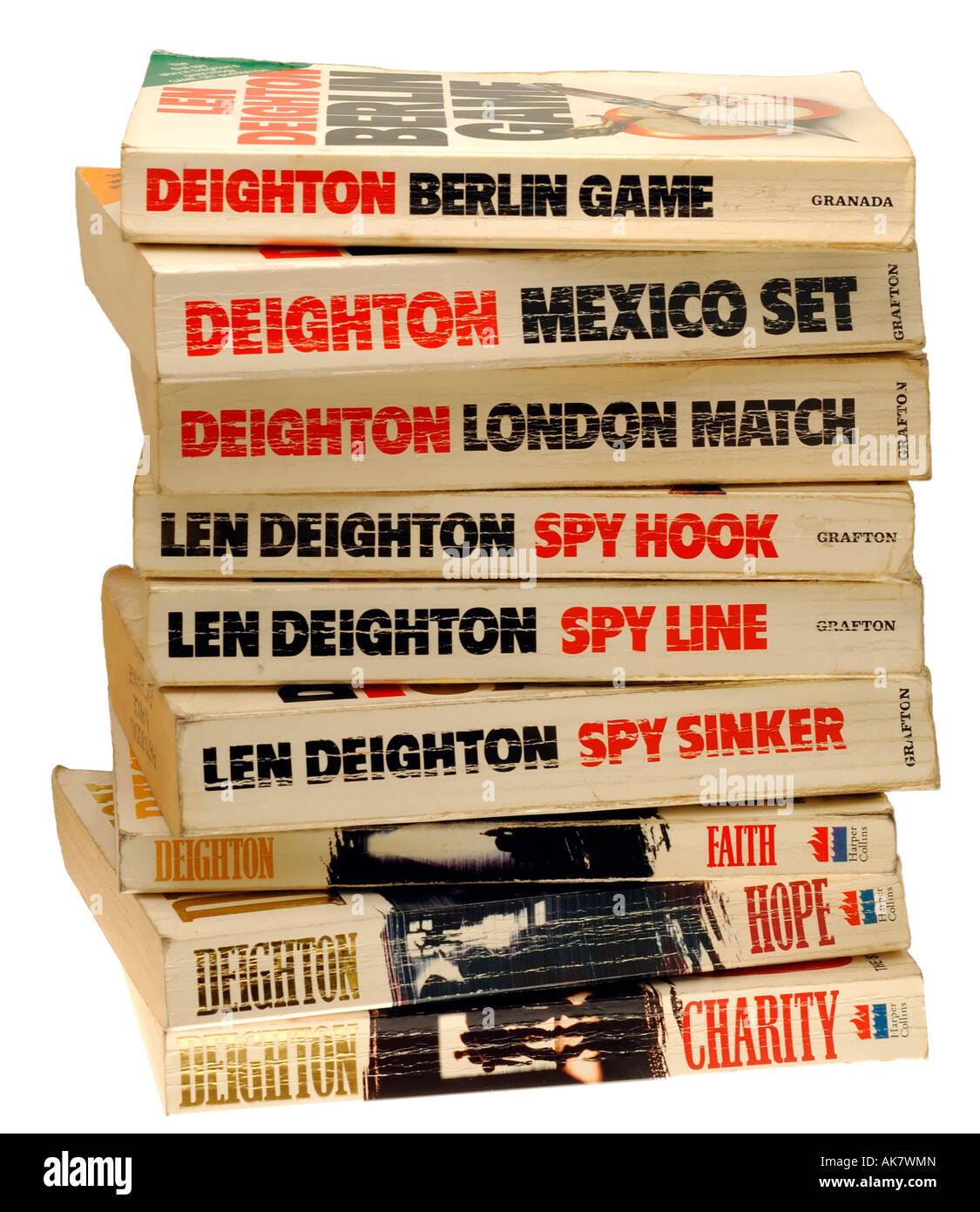 Spy Novels by Len Deighton - Stock Image