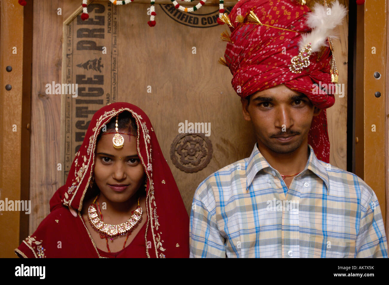 Rajasthani Village Bride Groom 3 Days After Their Wedding Pushkar Rajasthan INDIA