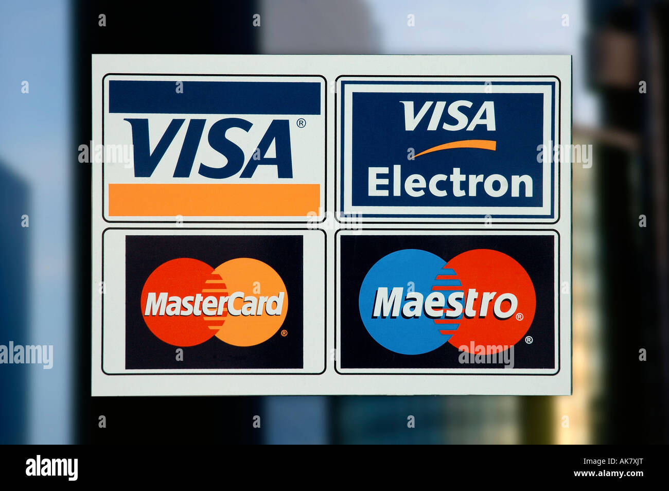 Credit Card Signs Stock Photo 14914367 Alamy