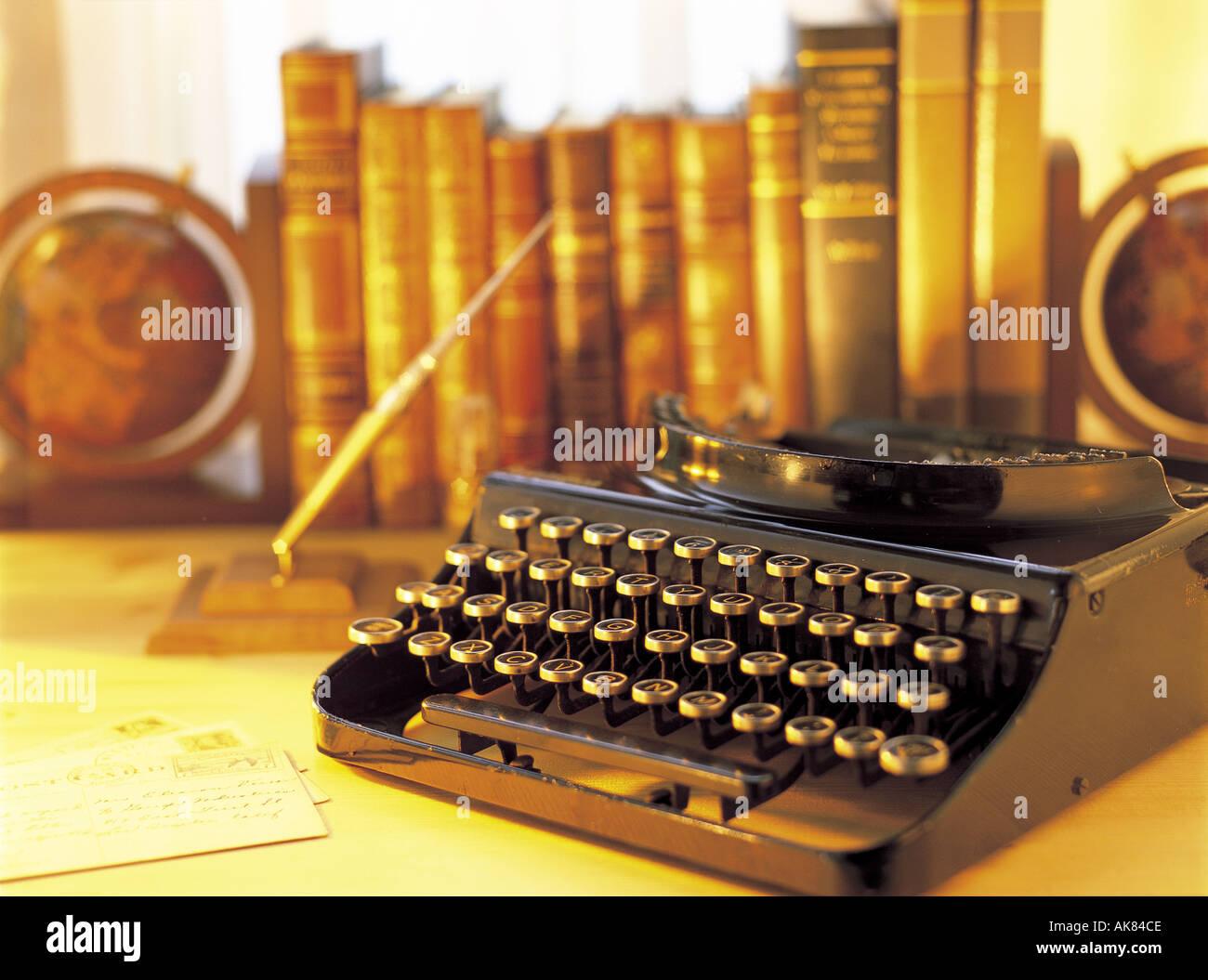 Antique typewriter - Stock Image