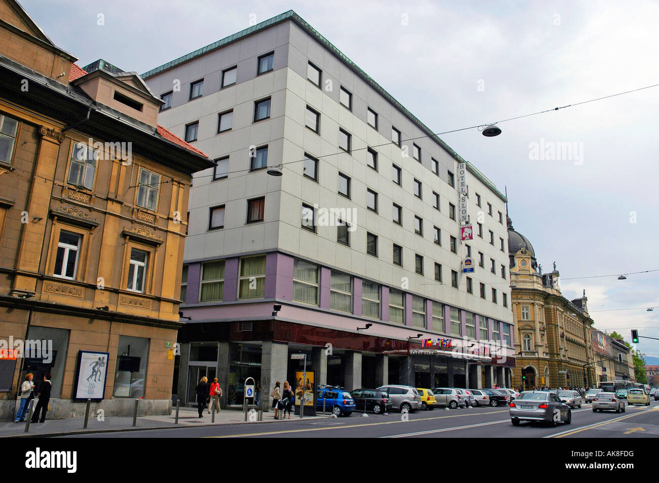 Best Western Premier Hotel Slon / Ljubljana - Stock Image