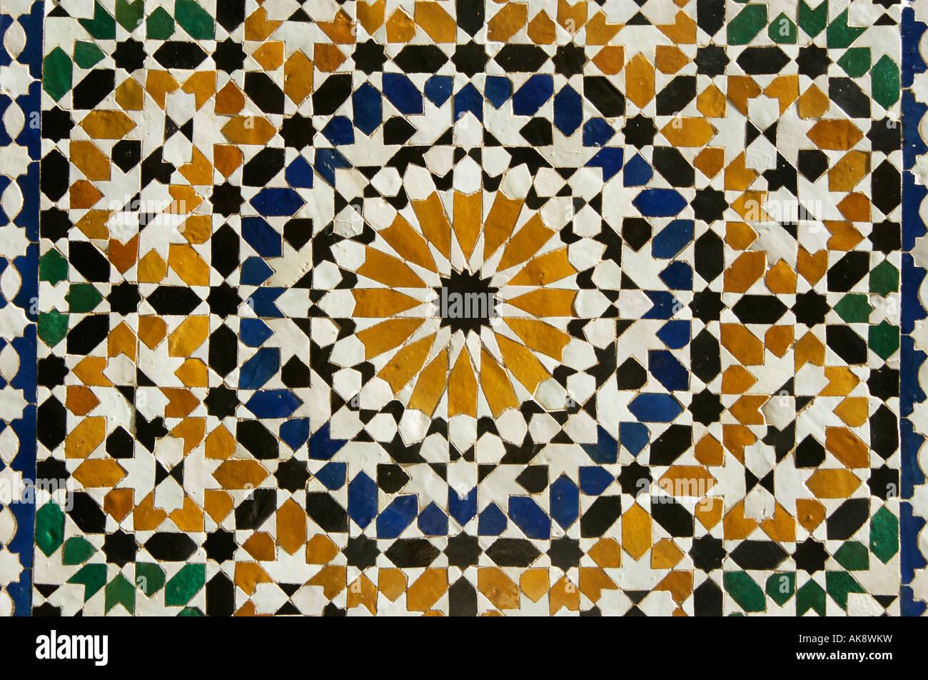 mosaic Palais de la Bahia - Stock Image