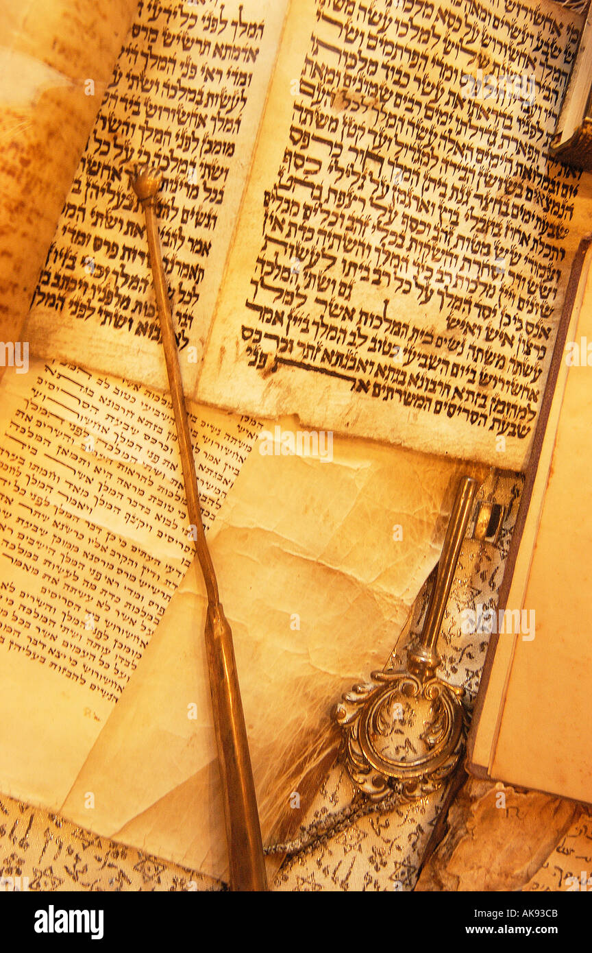 Turkey Istambul book in hebrew from the sepharad time  Stock Photo