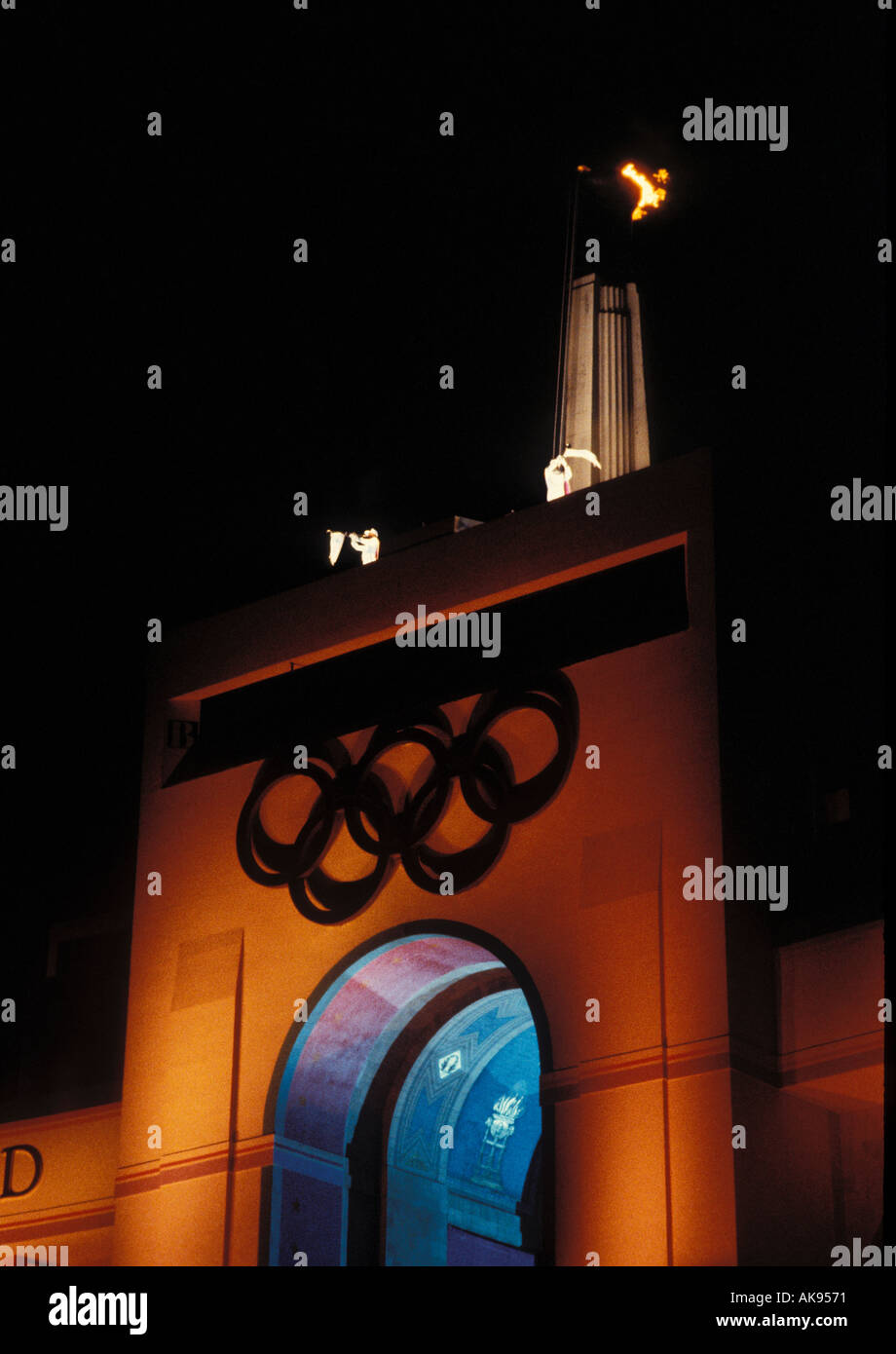 Ceremonies at the L A Olympics - Stock Image