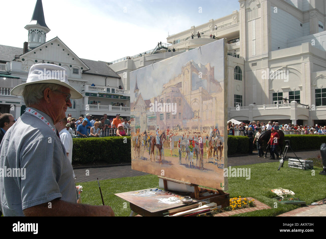 Official Artist of the Kentucky Derby Bart Forbes - Stock Image