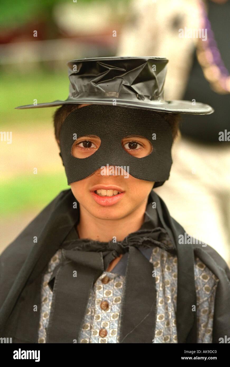 Zoro performer age 12 at Parktacular Parade. St Louis Park Minnesota USA - Stock Image