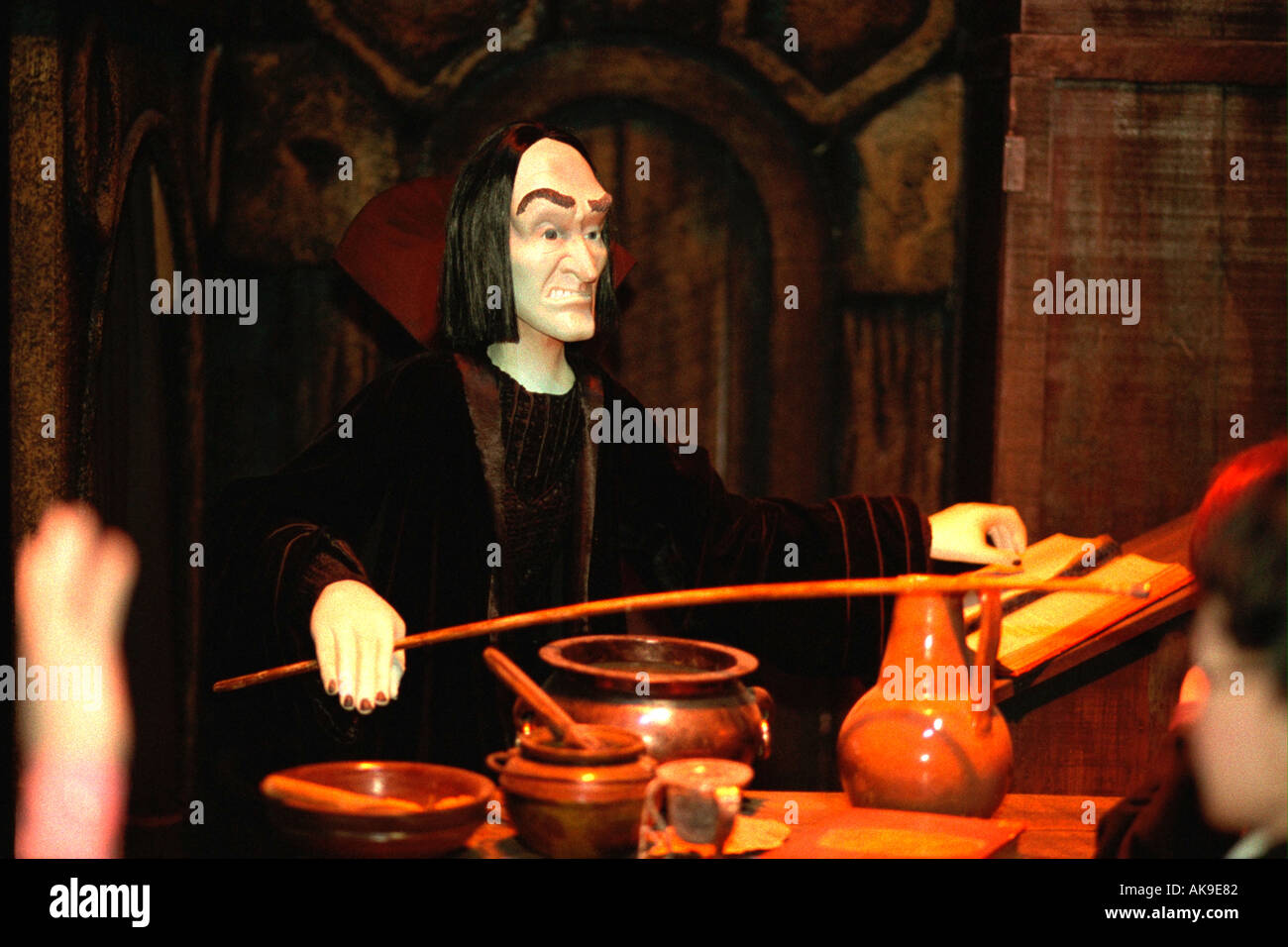 Snape, the potions master. Marshal Fields Holiday Display Titled: Have a Harry Potter Christmas. Minneapolis Minnesota - Stock Image