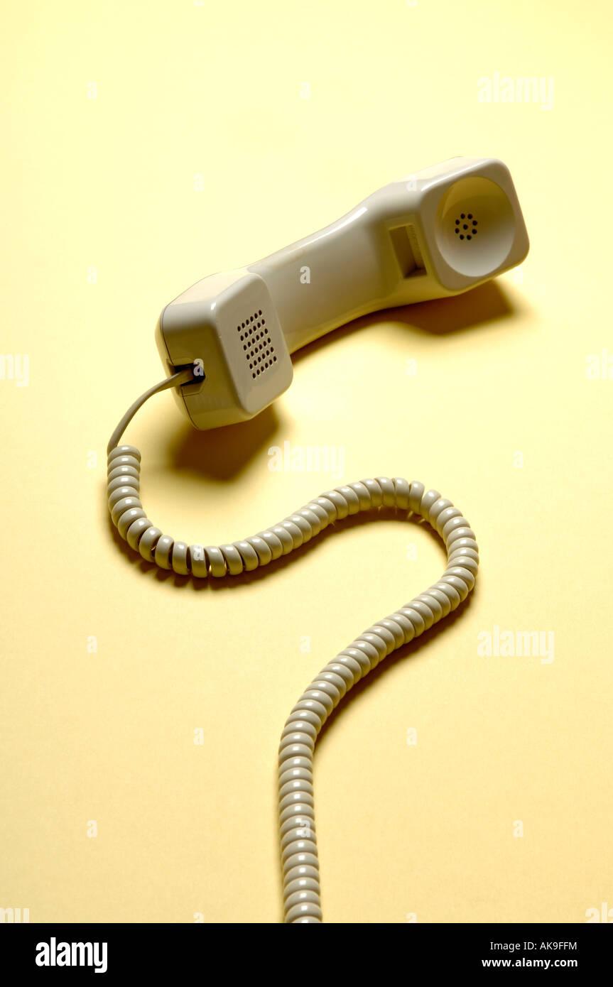 Telephone receiver - Stock Image
