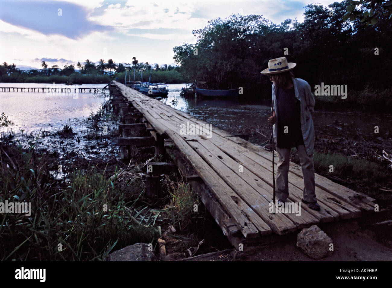 old man at the bridge