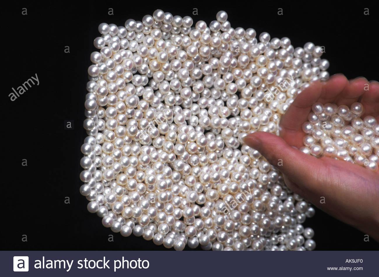 40b246e9e1ed Japan Mikimoto cultured pearls Stock Photo  4873967 - Alamy