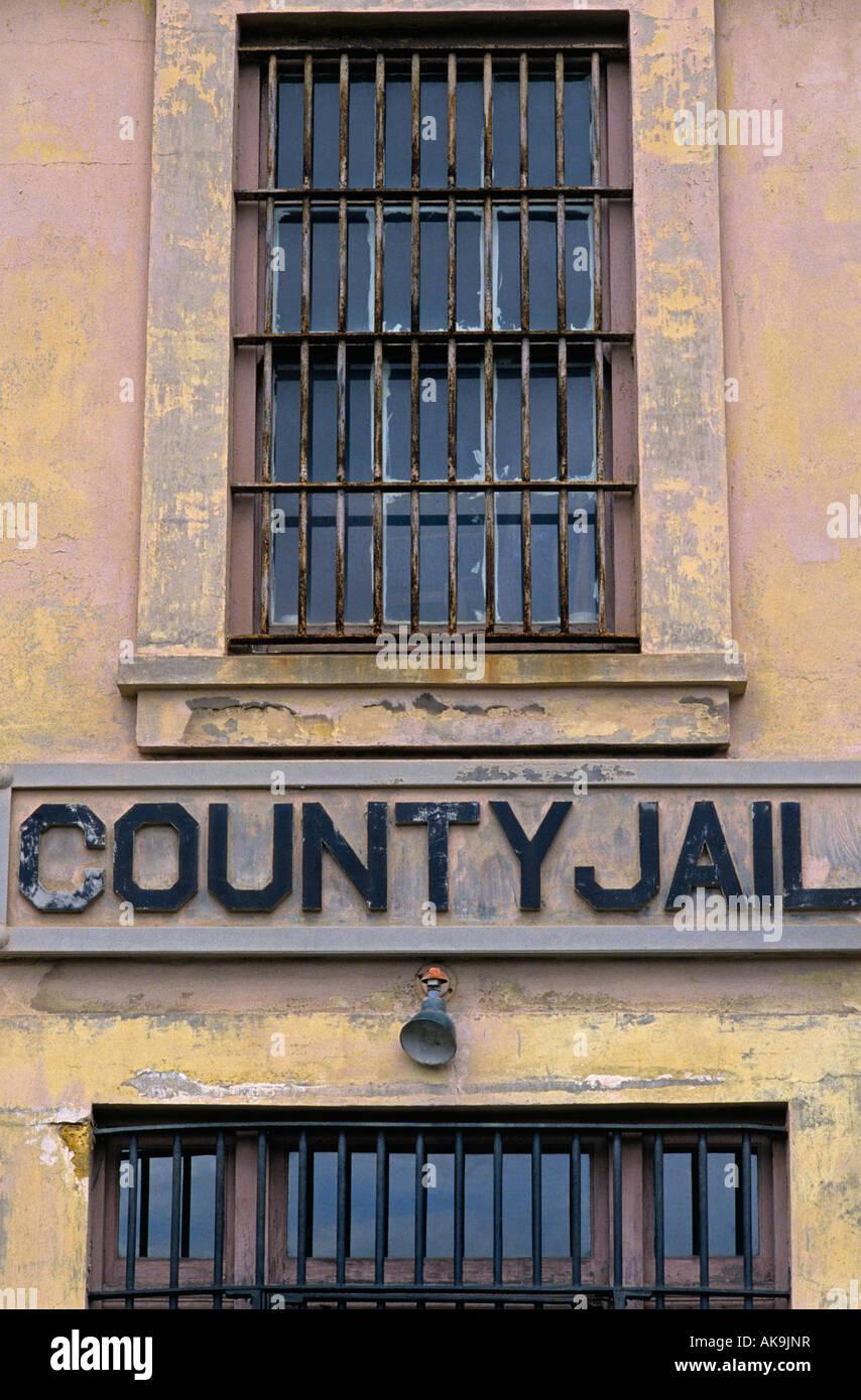 Astoria County jail prison facility bars on windows downtown