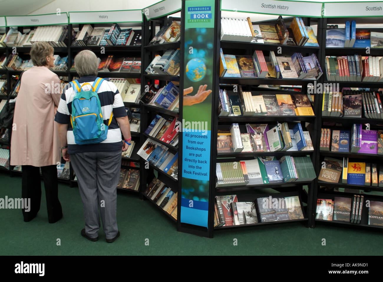 Edinburgh International Book Festival Scotland UK European viewing collection - Stock Image
