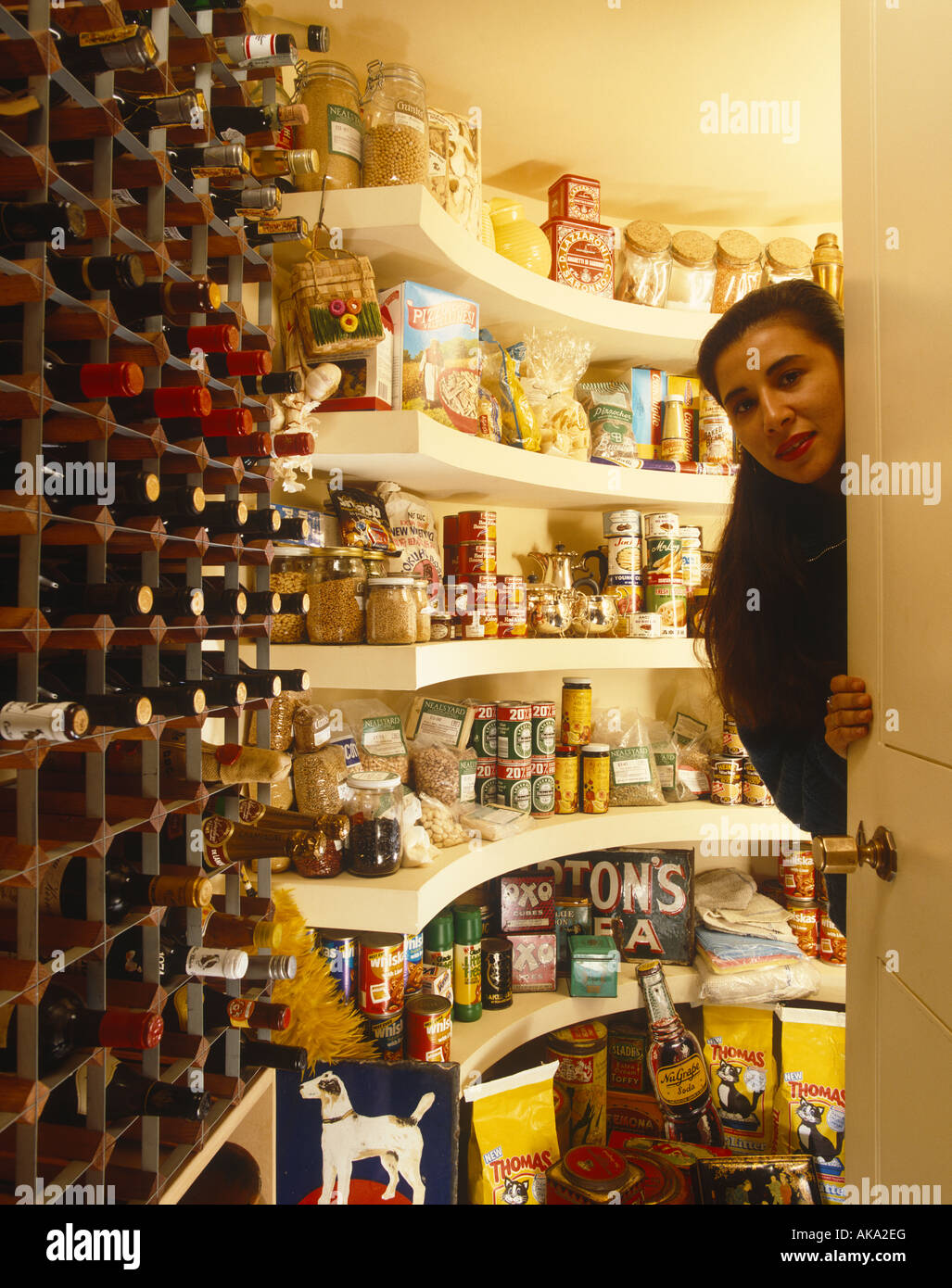 Larder/Cellar with Owner - Stock Image