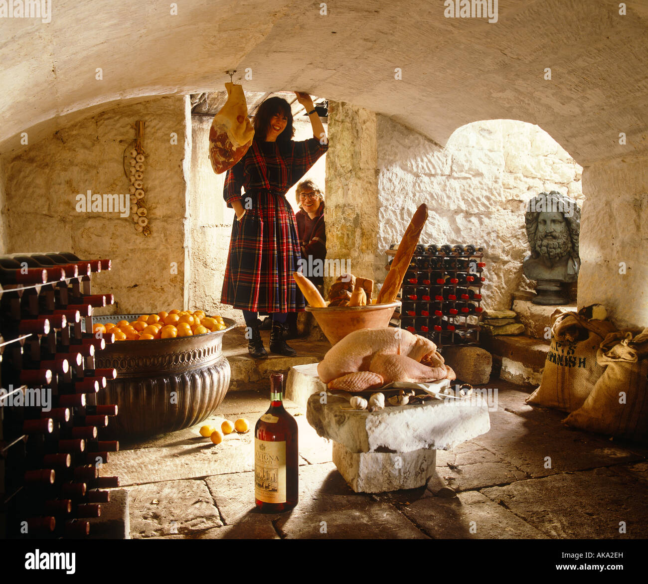 Larder/Cellar with Owners Stock Photo