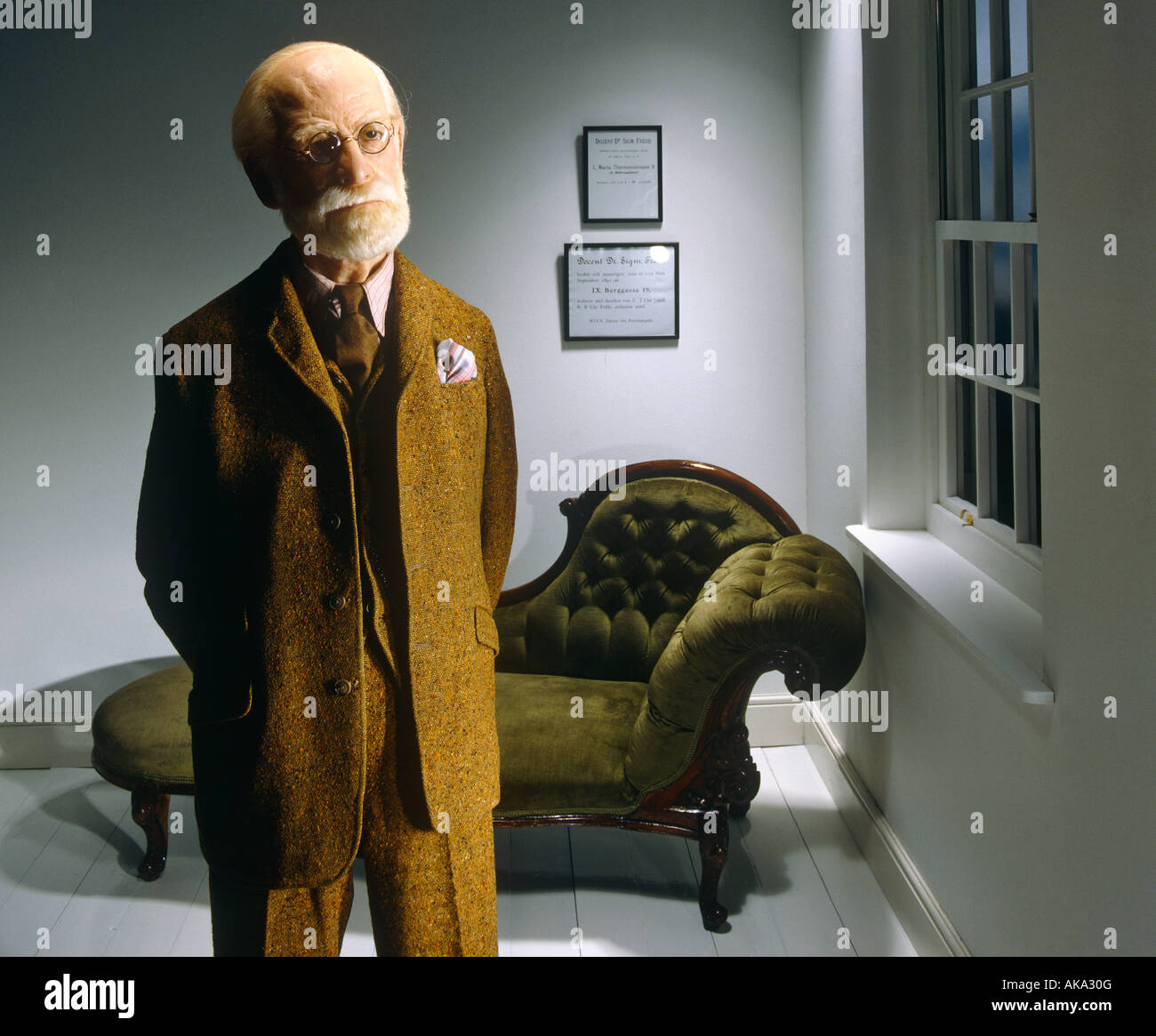 Sigmund Freud in his Surgery - Stock Image