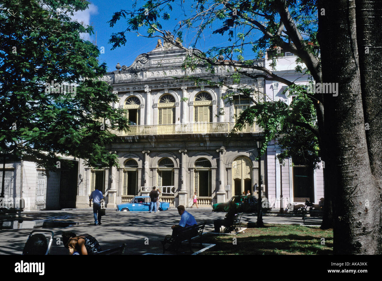Former Casino Español now a hotel on Parque Libertad Liberty Park in Matanzas Cuba - Stock Image