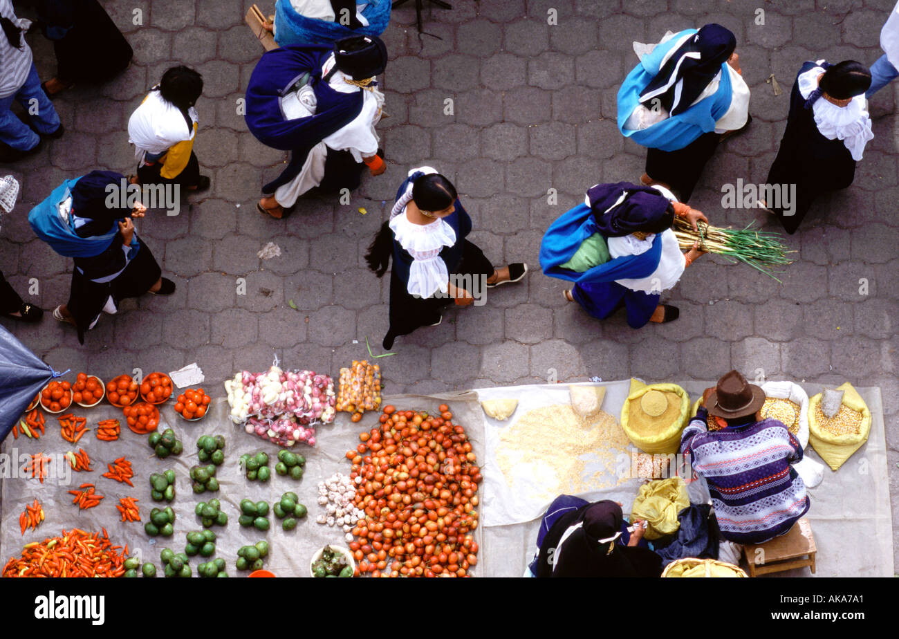 Fruit market. Otavalo. Ecuador. Southamerica Stock Photo