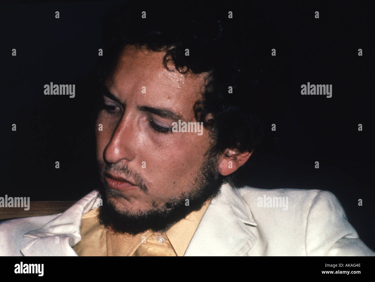 BOB DYLAN at the Isle of Wight Festival in 1969 - Stock Image