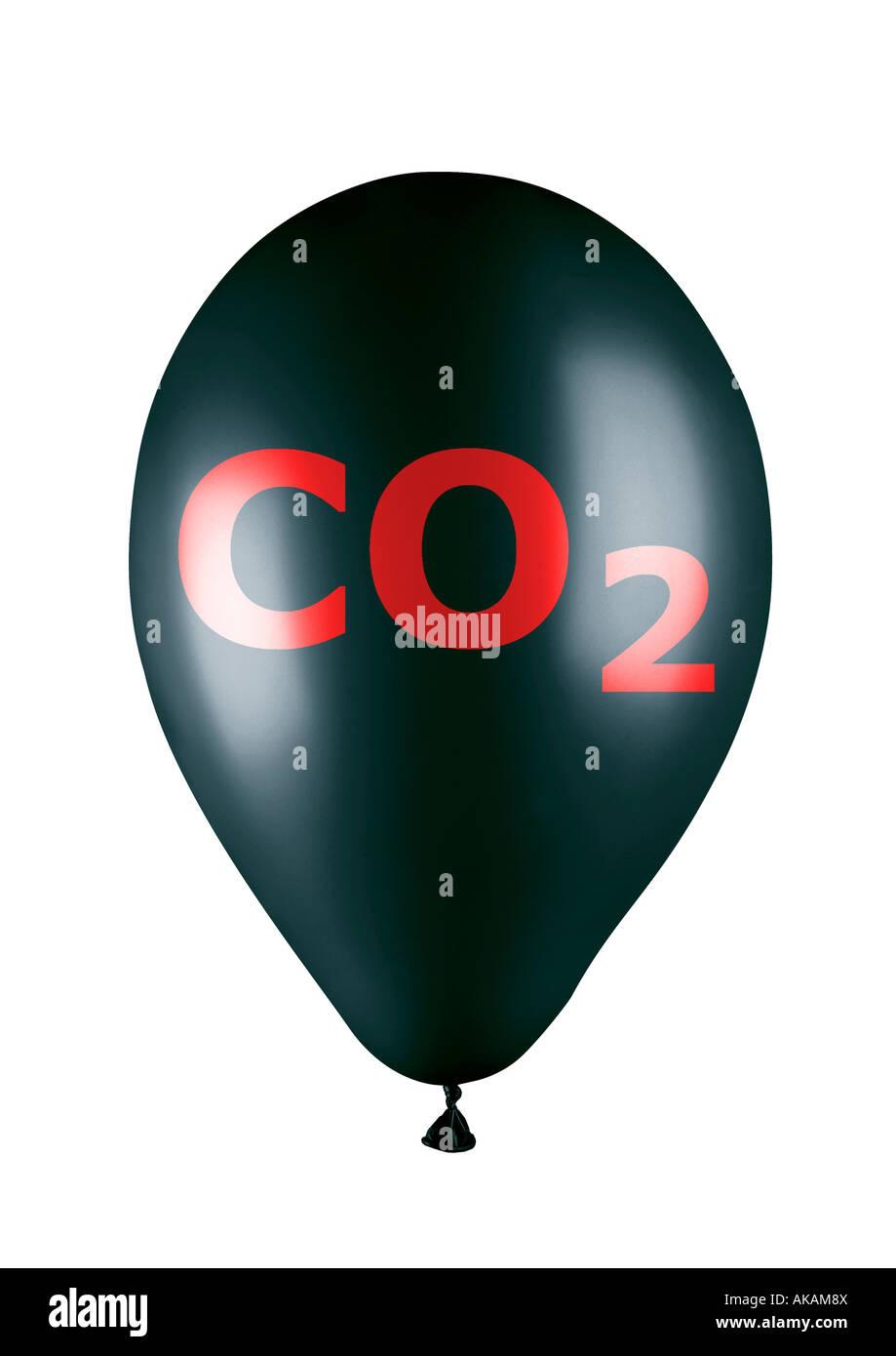 balloon co2 CO2 Ballon - Stock Image
