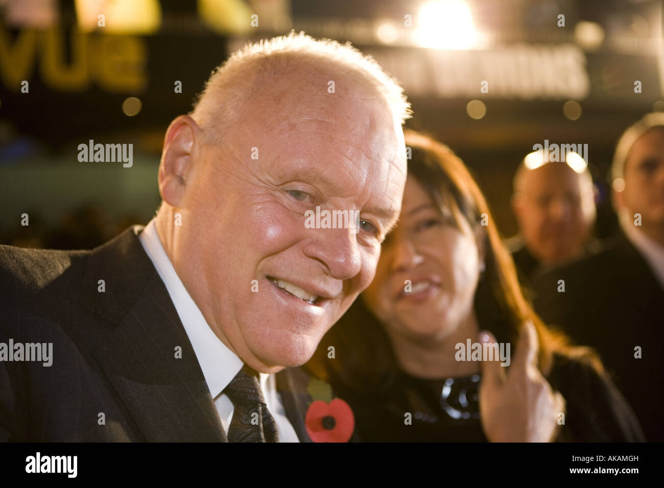 antony hopkins at beo wulf film premiere european leicester square london - Stock Image
