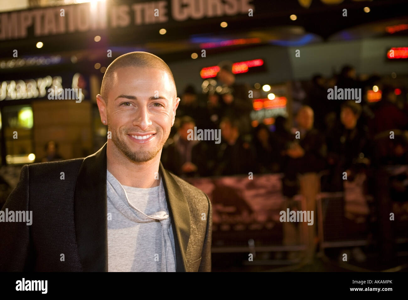 brian friedman celeb guest at beo wulf film premiere european leicester square london x factor - Stock Image