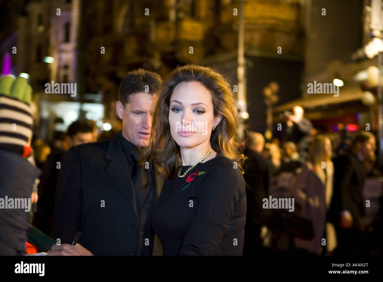 angelina jolie at beo wulf film premiere european leicester square london - Stock Image