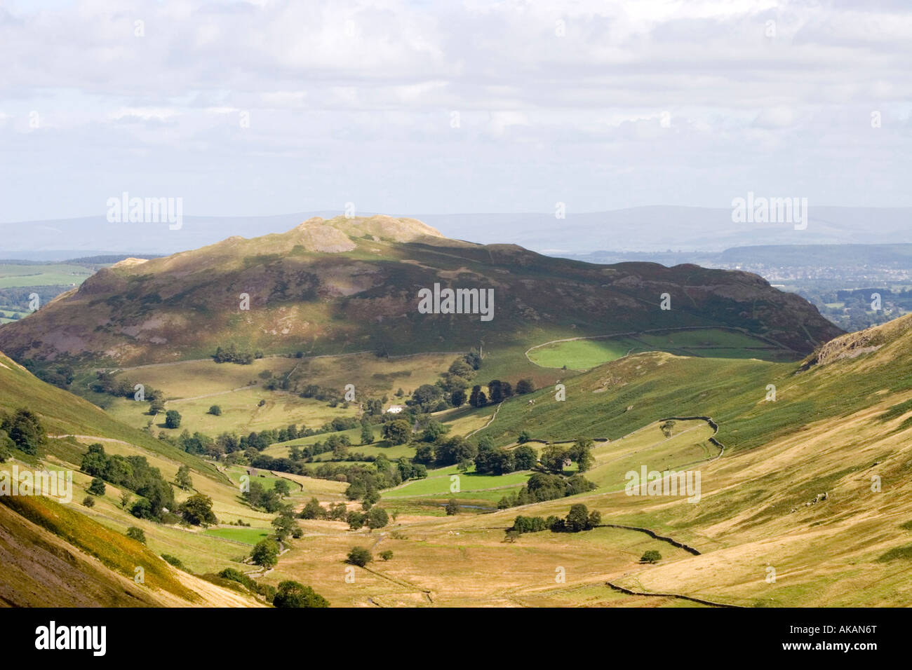 View of Boardale and Hallin Fell from Boardale Hause Lake District National Park Cumbria England Stock Photo
